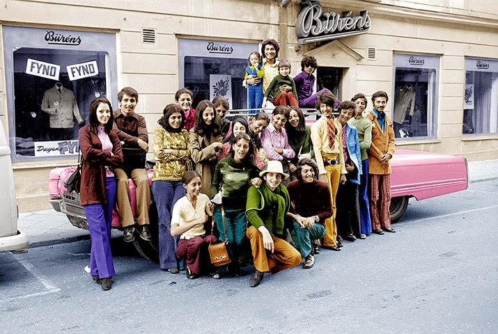 Bin Laden family vacationing in Falun, Sweden in 1971 2nd from left