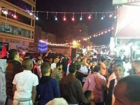 Benghazi Libya – crowds gather to celebrate the return of Field Marshall Hafter to Libya from his recent trip to Egypt.